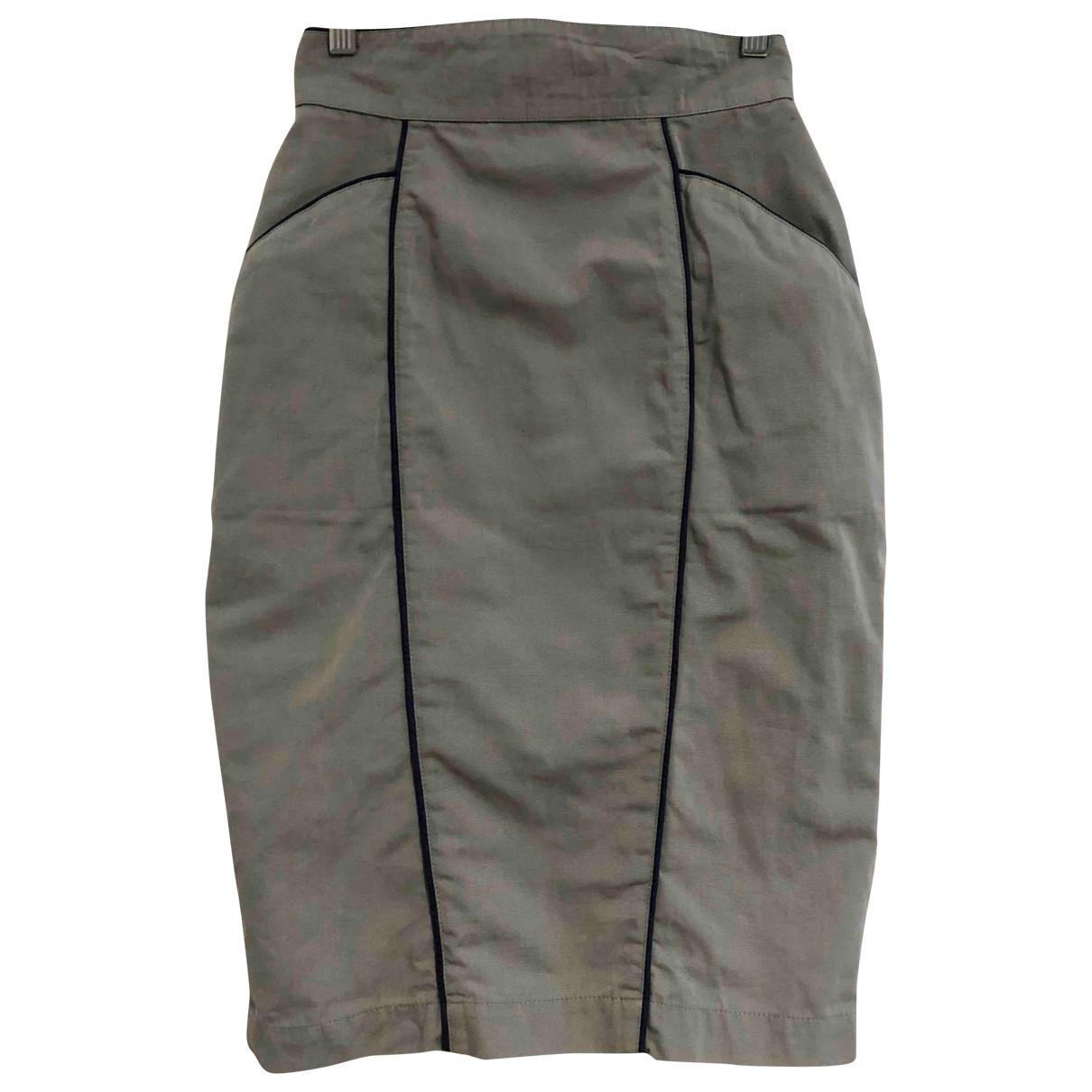 Thierry Mugler - Jupe   pour femme en coton - gris
