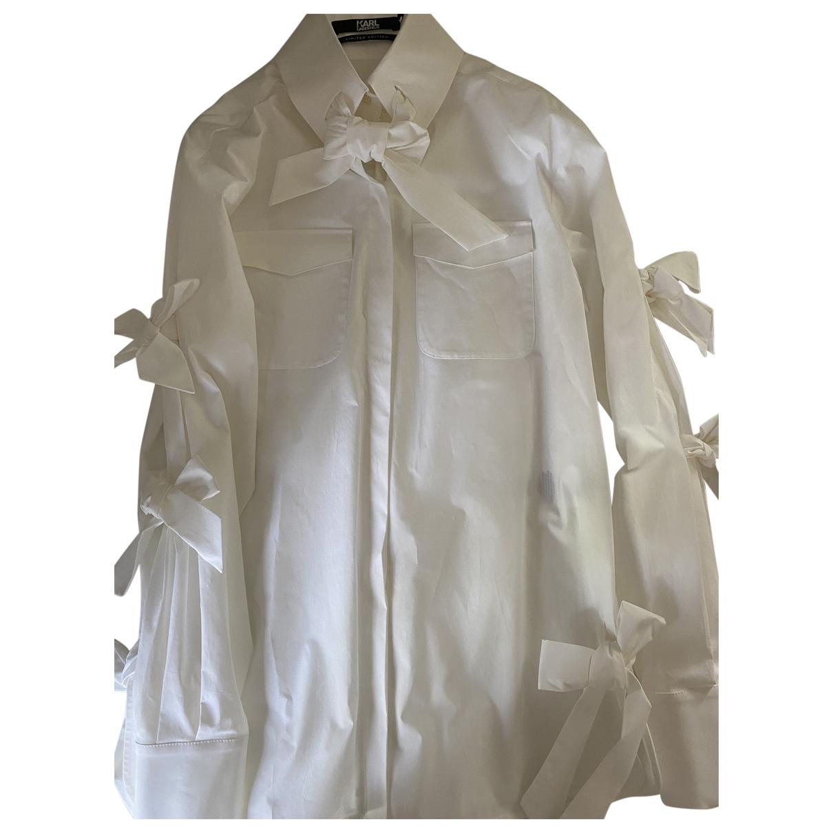 Karl Lagerfeld - Top   pour femme en coton - blanc