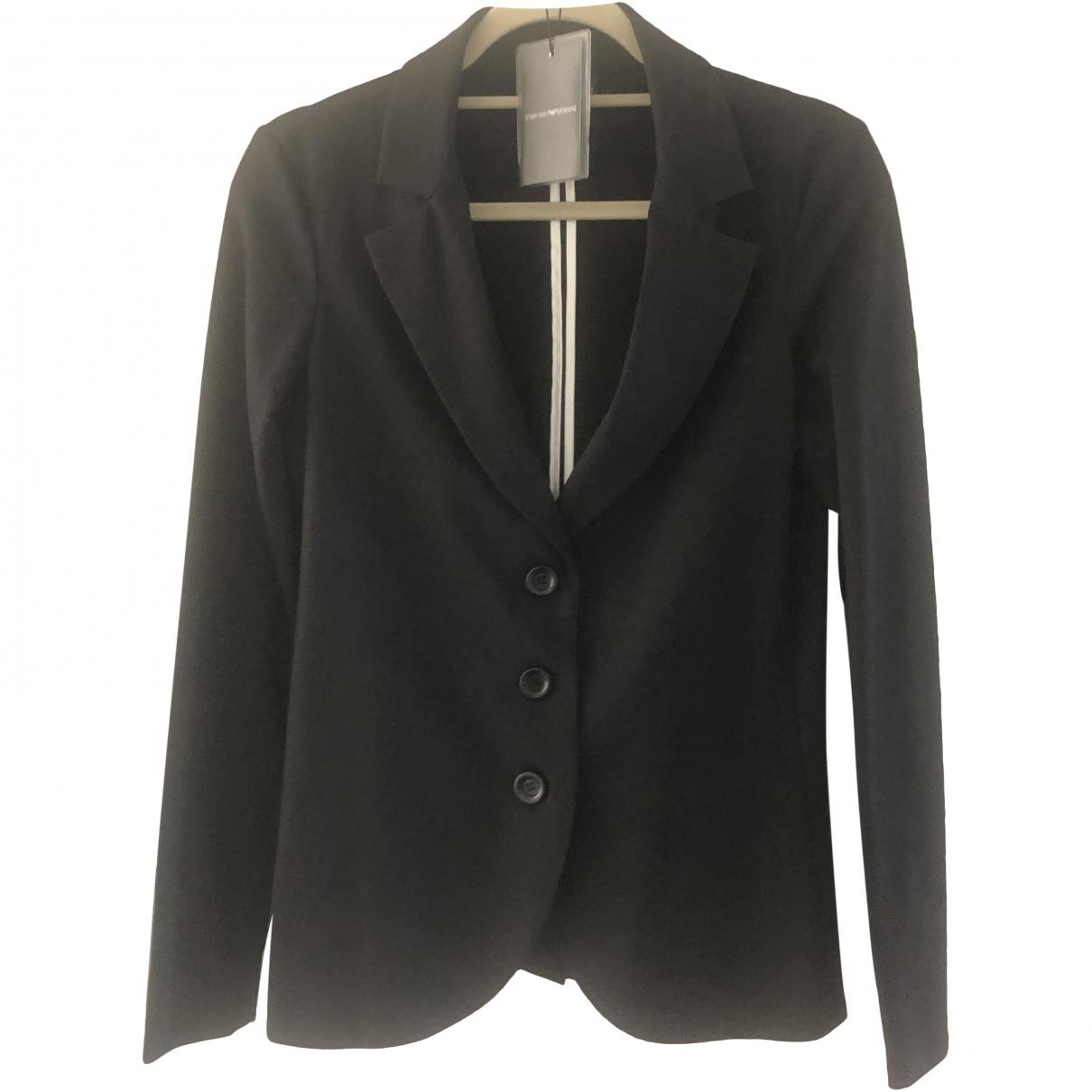 Emporio Armani \N Black jacket for Women 46 IT