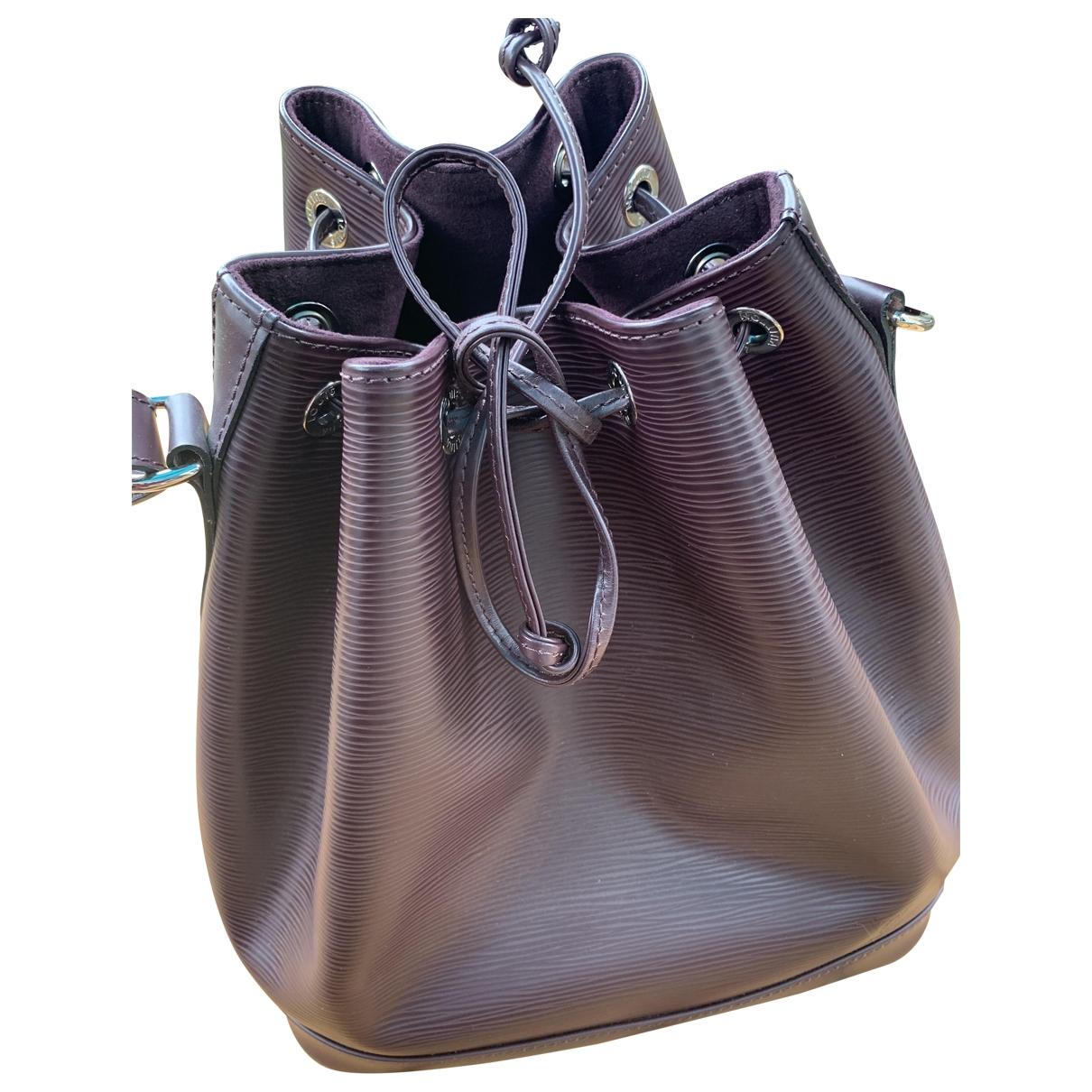 Louis Vuitton NeoNoe Handtasche in  Bordeauxrot Leder