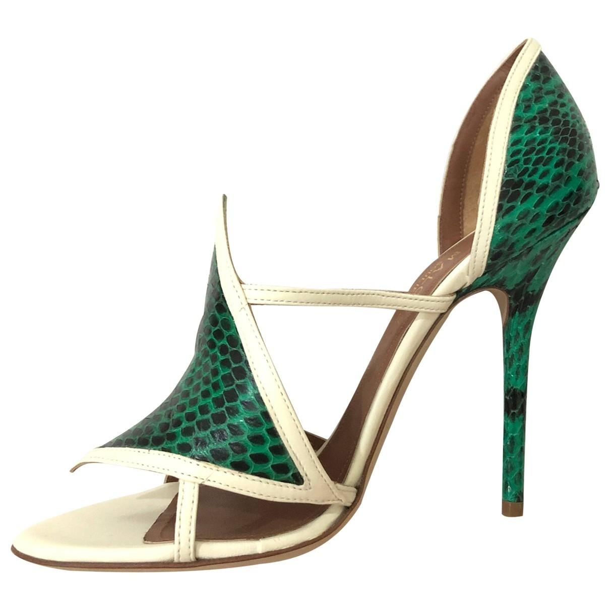 Malone Souliers - Sandales   pour femme en serpent deau - vert
