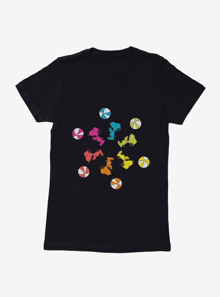 Peanuts Snoopy Beach Ball Womens T-Shirt