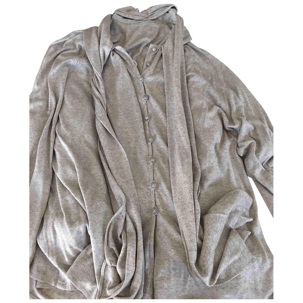 Jean-louis Scherrer - Pull   pour femme en coton - beige