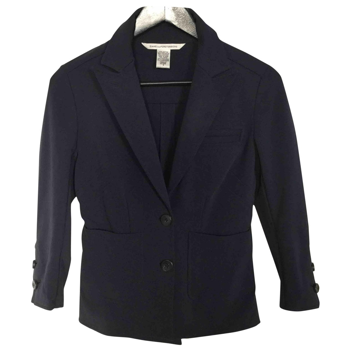 Diane Von Furstenberg \N Navy Cotton jacket for Women 6 US