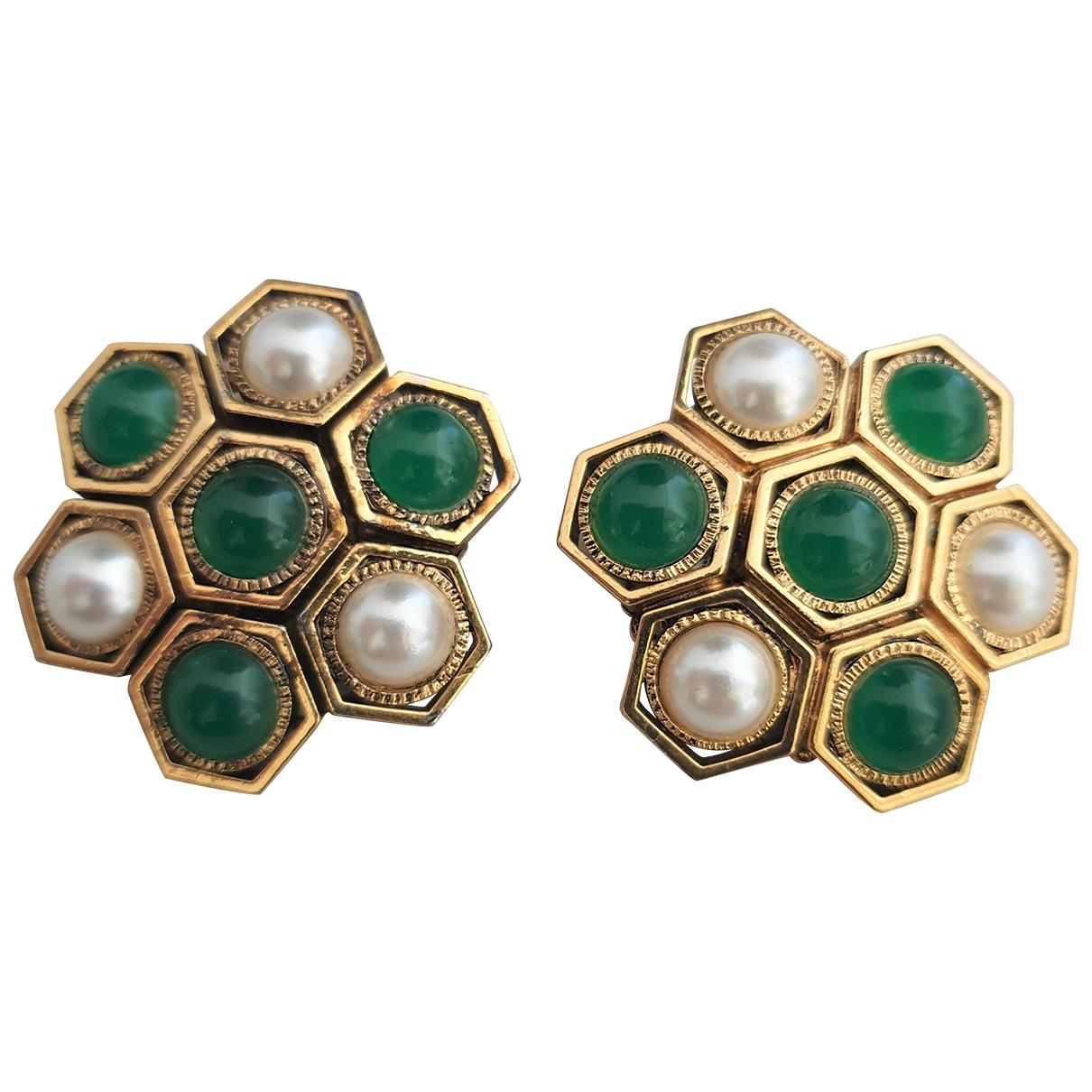 - Boucles doreilles Emeraude pour femme en plaque or - vert