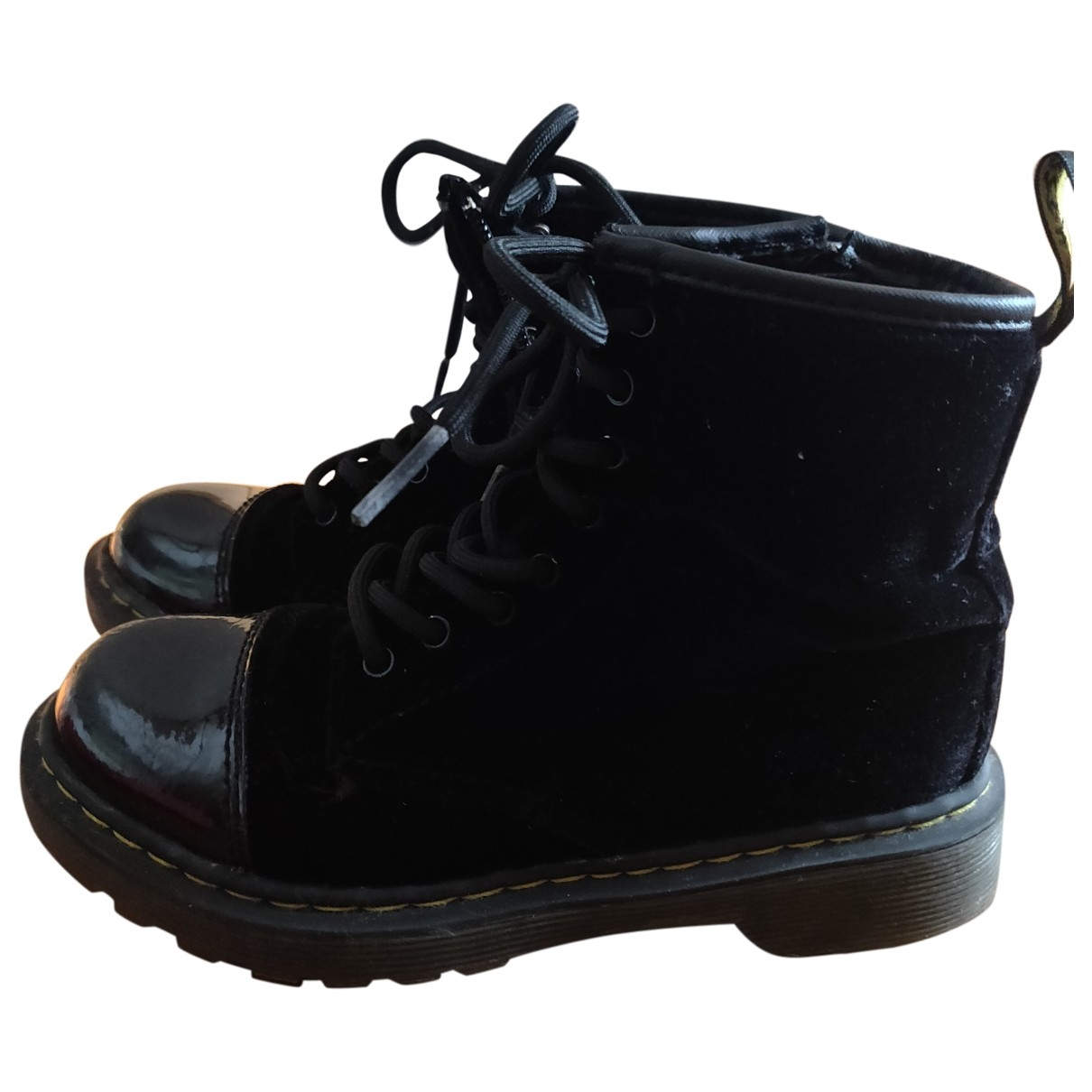 Dr. Martens \N Black Patent leather Boots for Kids 31 EU