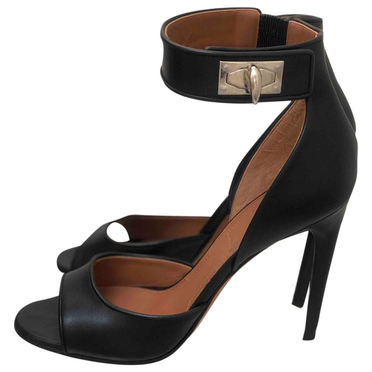 Givenchy - Sandales Shark pour femme en cuir - noir