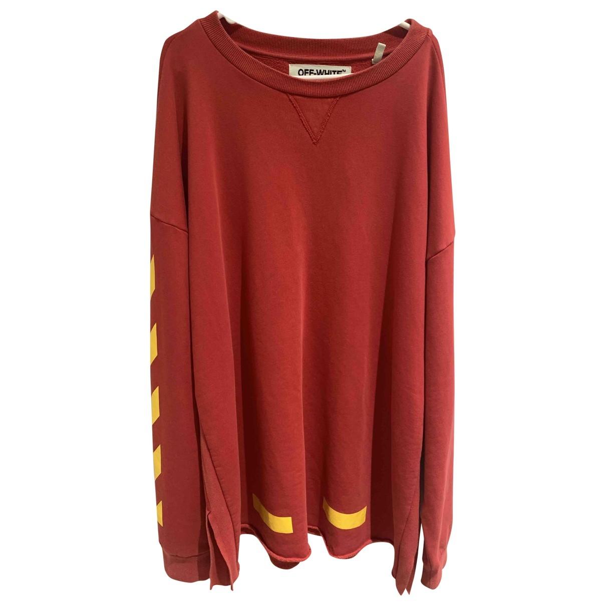 Off-white \N Pullover.Westen.Sweatshirts  in  Rot Baumwolle