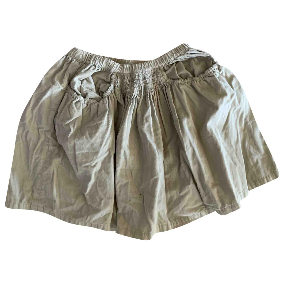 Bonton \N Beige Cotton skirt for Kids 10 years - up to 142cm FR