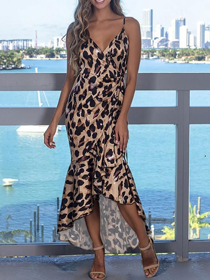 Ericdress V-Neck Ankle-Length Sleeveless Pullover Summer Dress