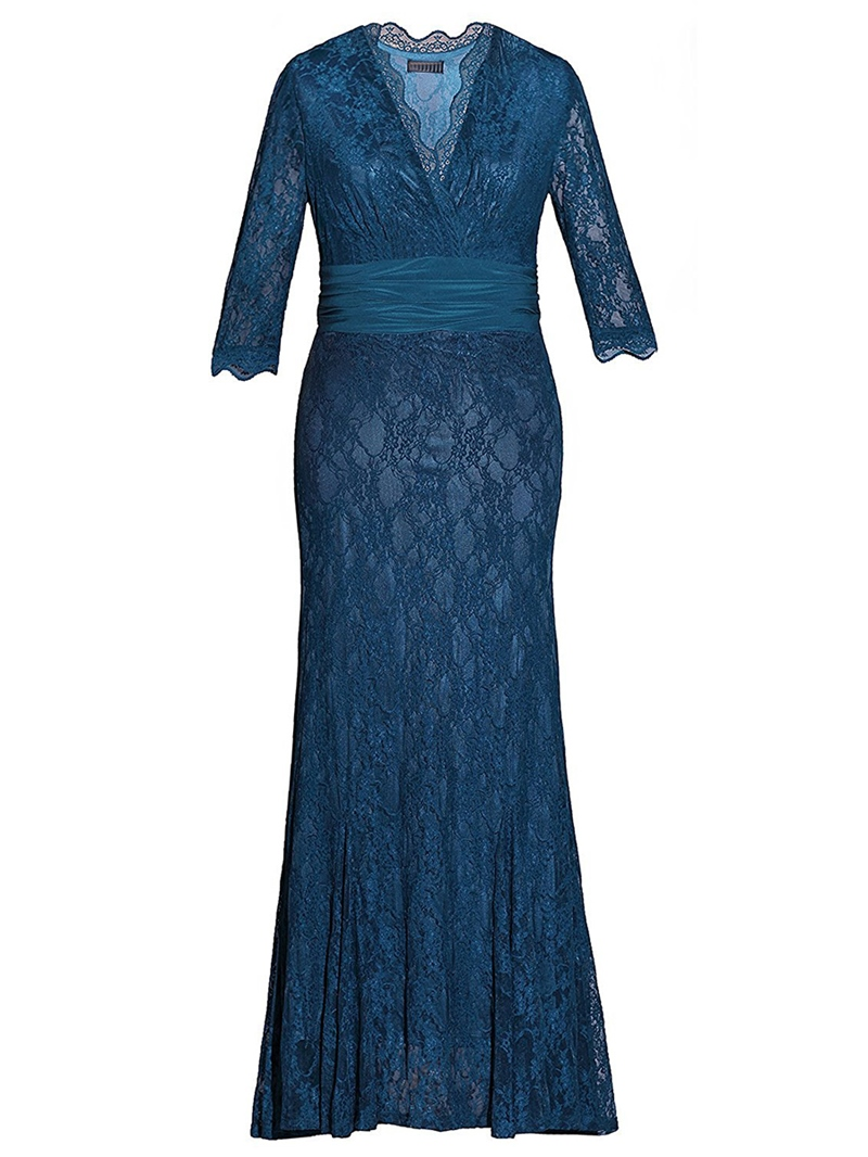 Ericdress Lace Plus Size Mother of the Bride Dress