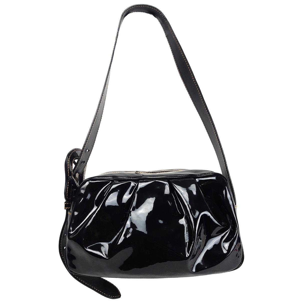 Fendi B Bag Handtasche in  Schwarz Lackleder