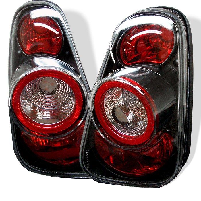 Spyder Altezza Black Tail Lights Mini Cooper 02-05