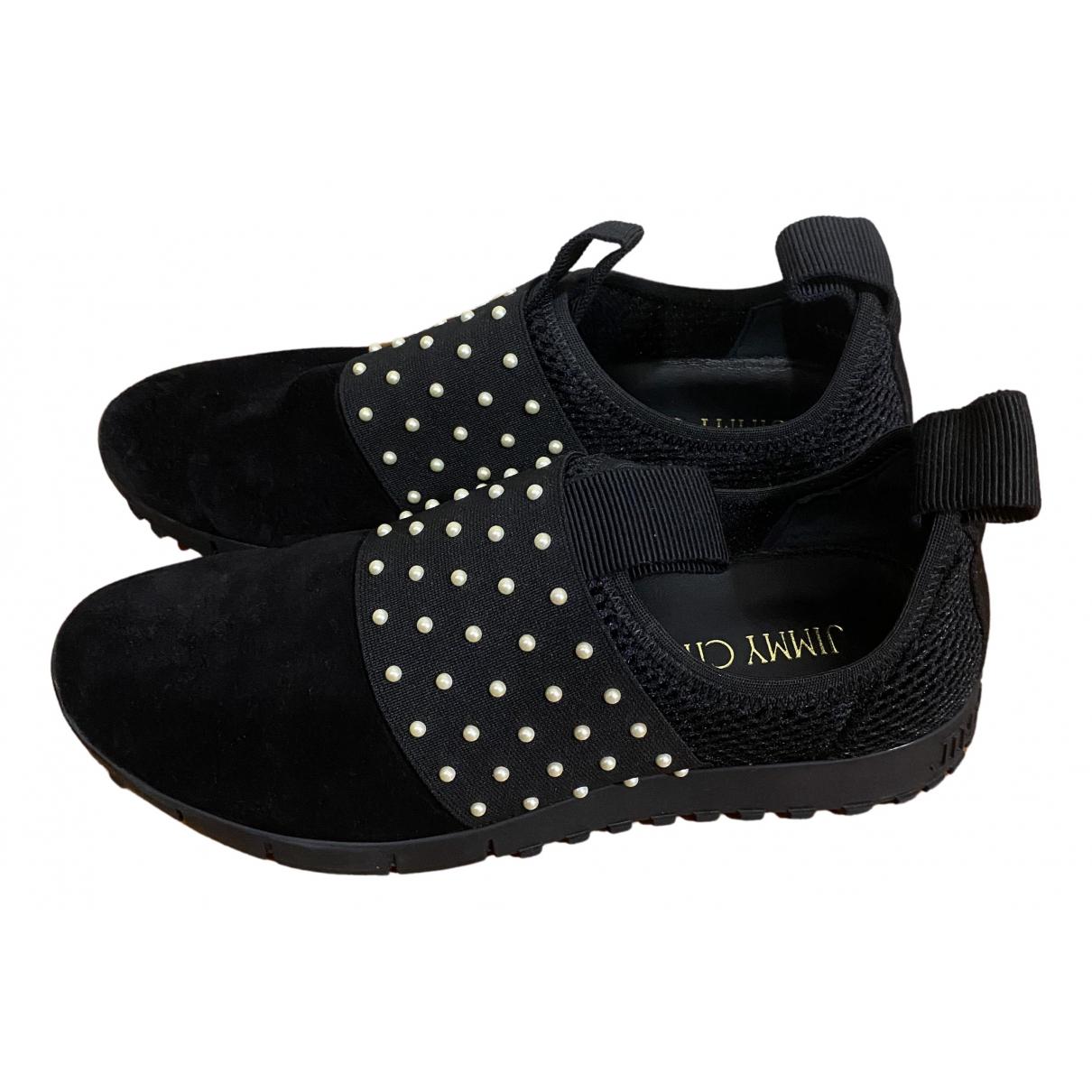 Jimmy Choo \N Sneakers in  Blau Samt
