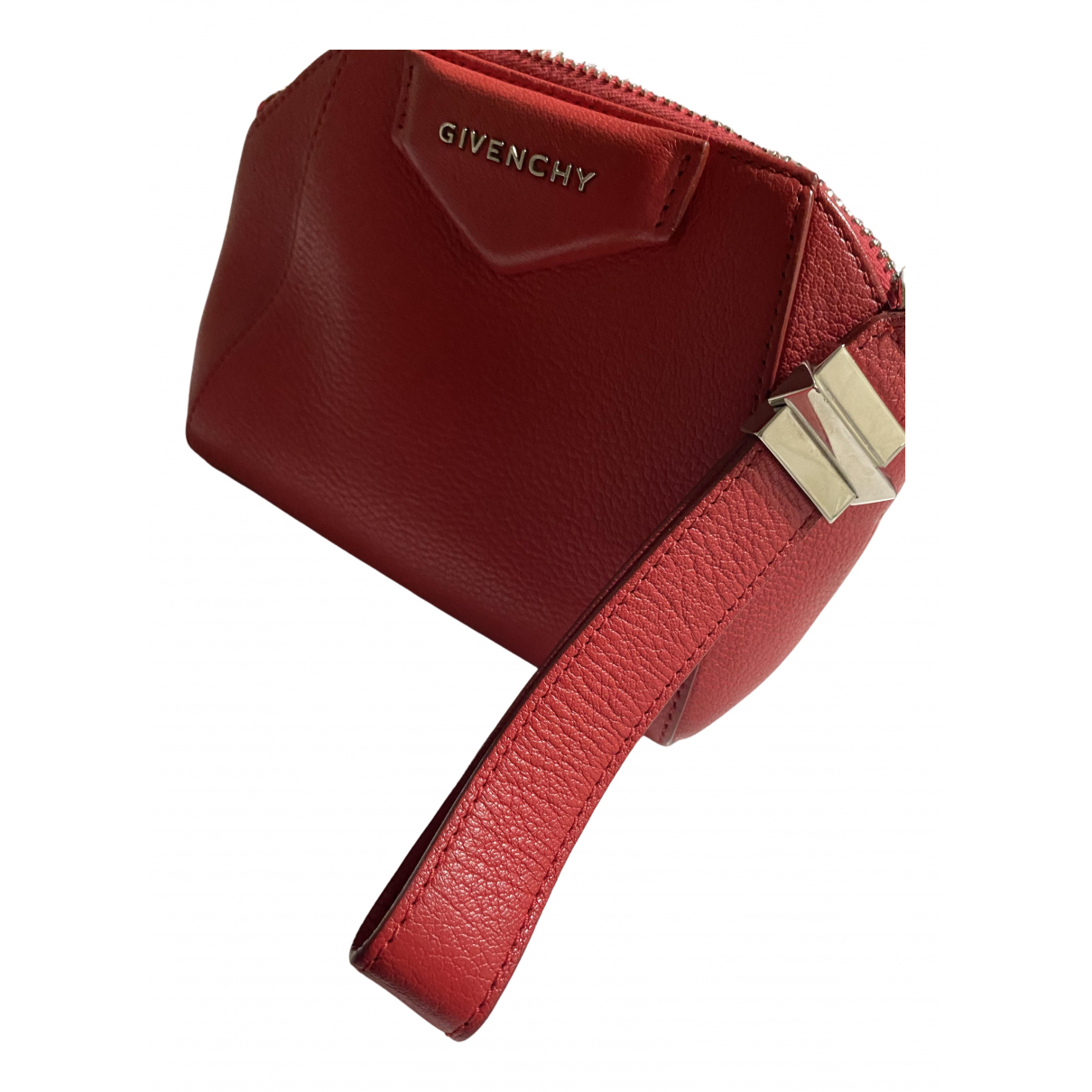 Givenchy Antigona Clutch in  Rot Leder