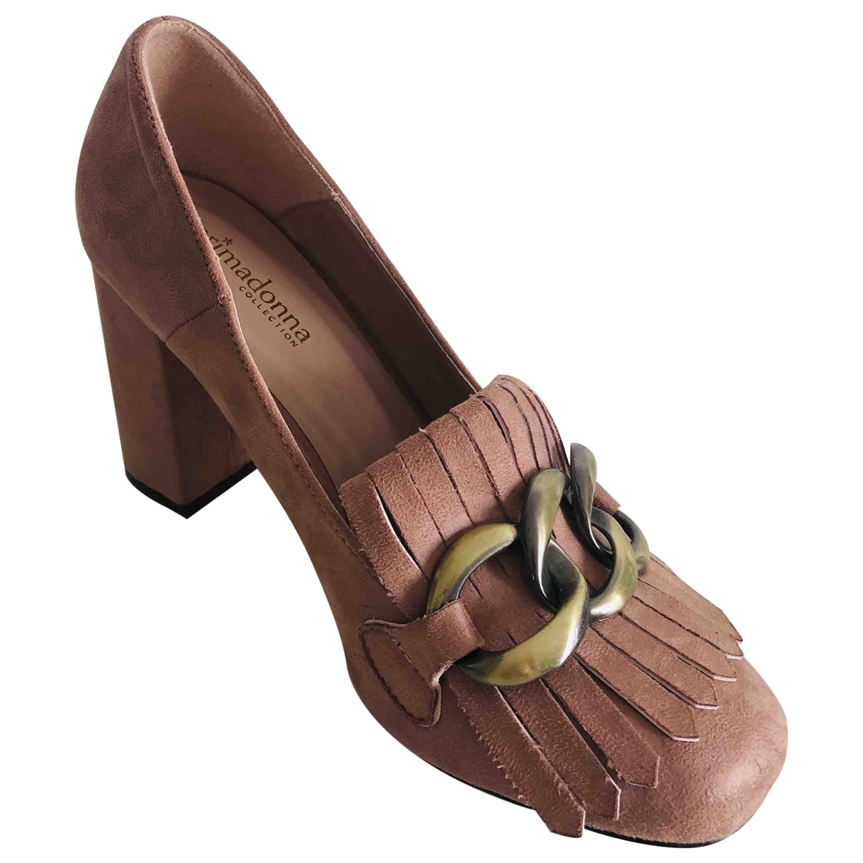 Non Signé / Unsigned \N Pink Suede Heels for Women 38 EU
