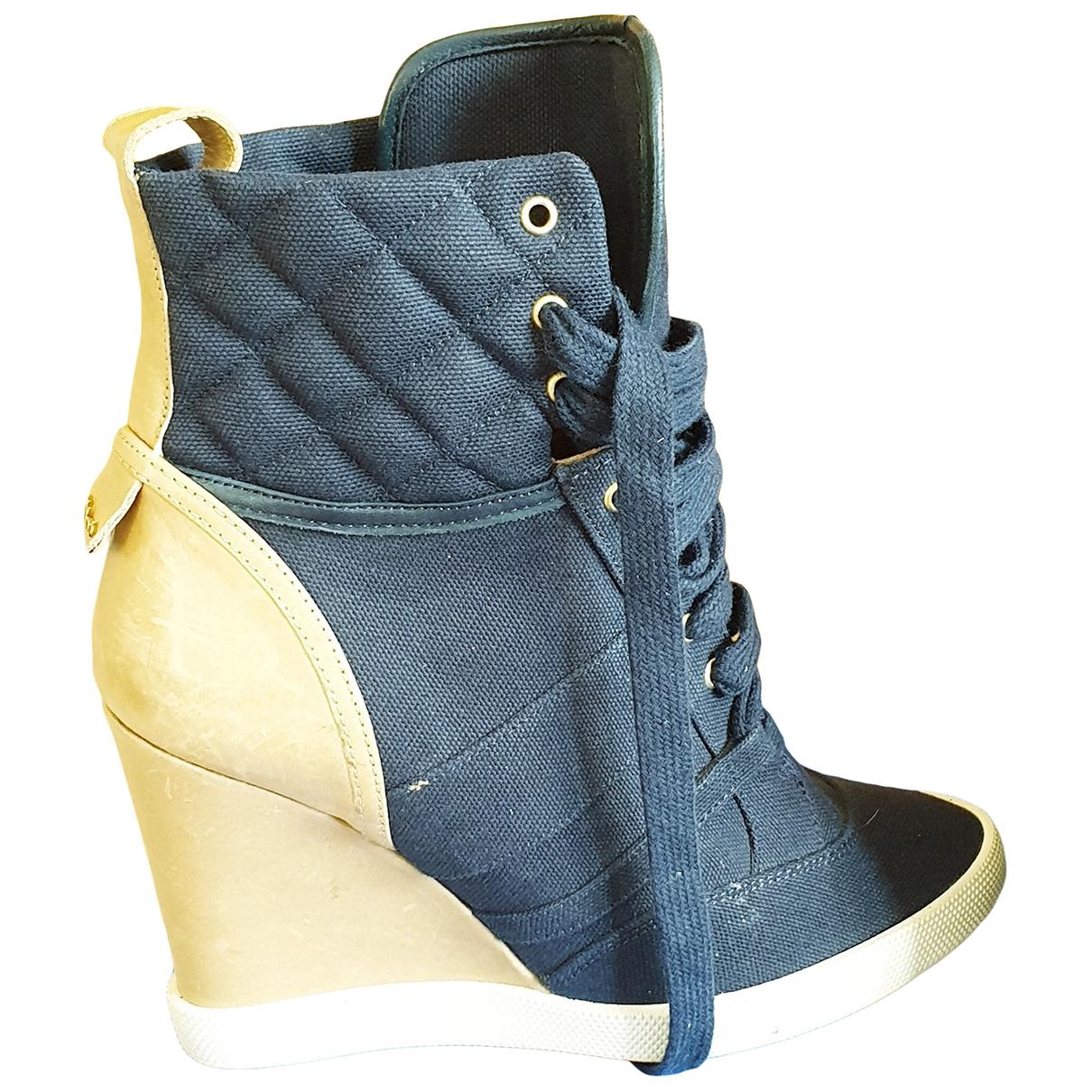 Chloe \N Sneakers in  Blau Leinen