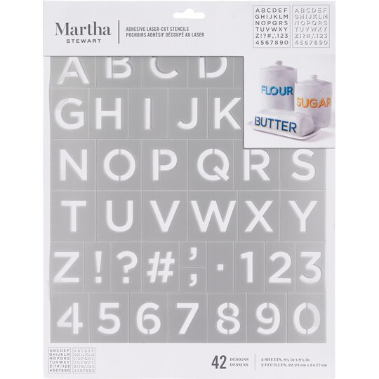 Martha Stewart Adhesive Laser-Cut Stencils, Letter Shadow | Michaels®