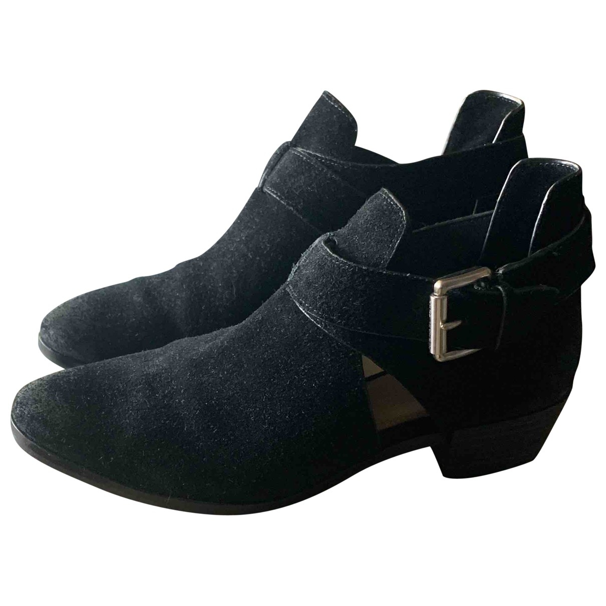 Michael Kors \N Black Suede Ankle boots for Women 38 EU