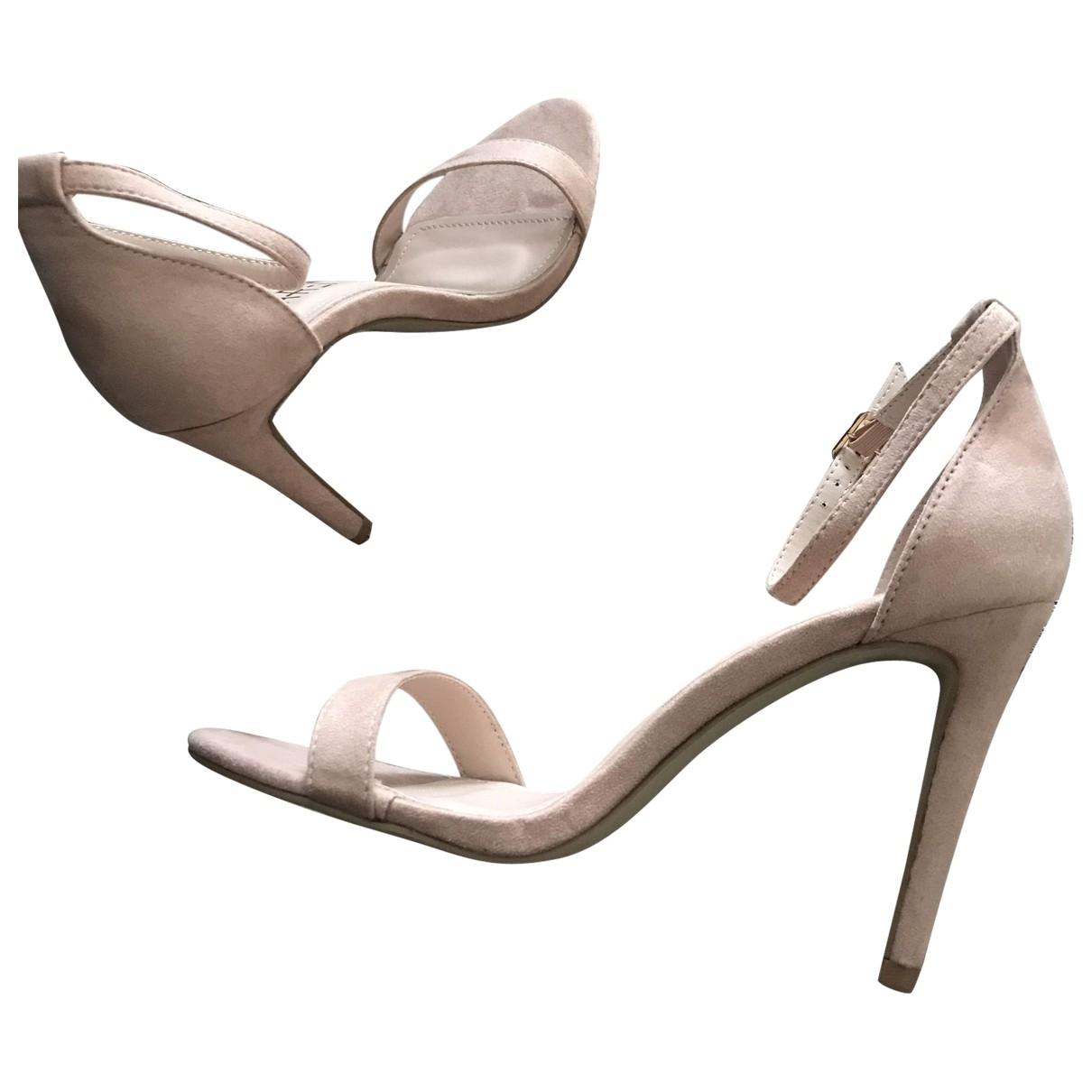 - Sandales   pour femme en suede