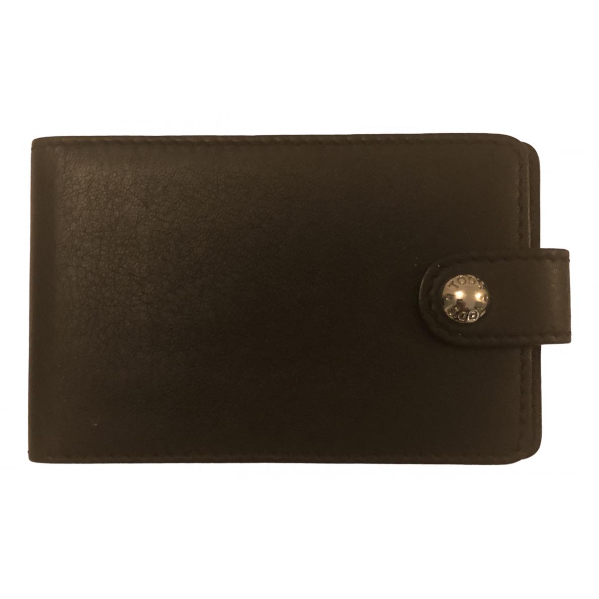 Tods - Petite maroquinerie   pour homme en cuir - noir