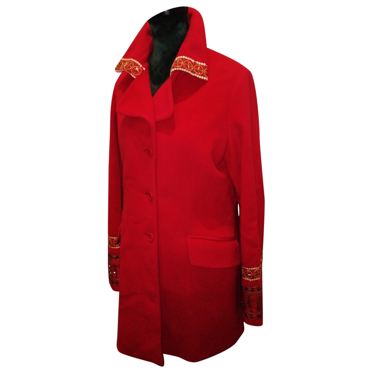 Romeo Gigli \N Maentel in  Rot Wolle