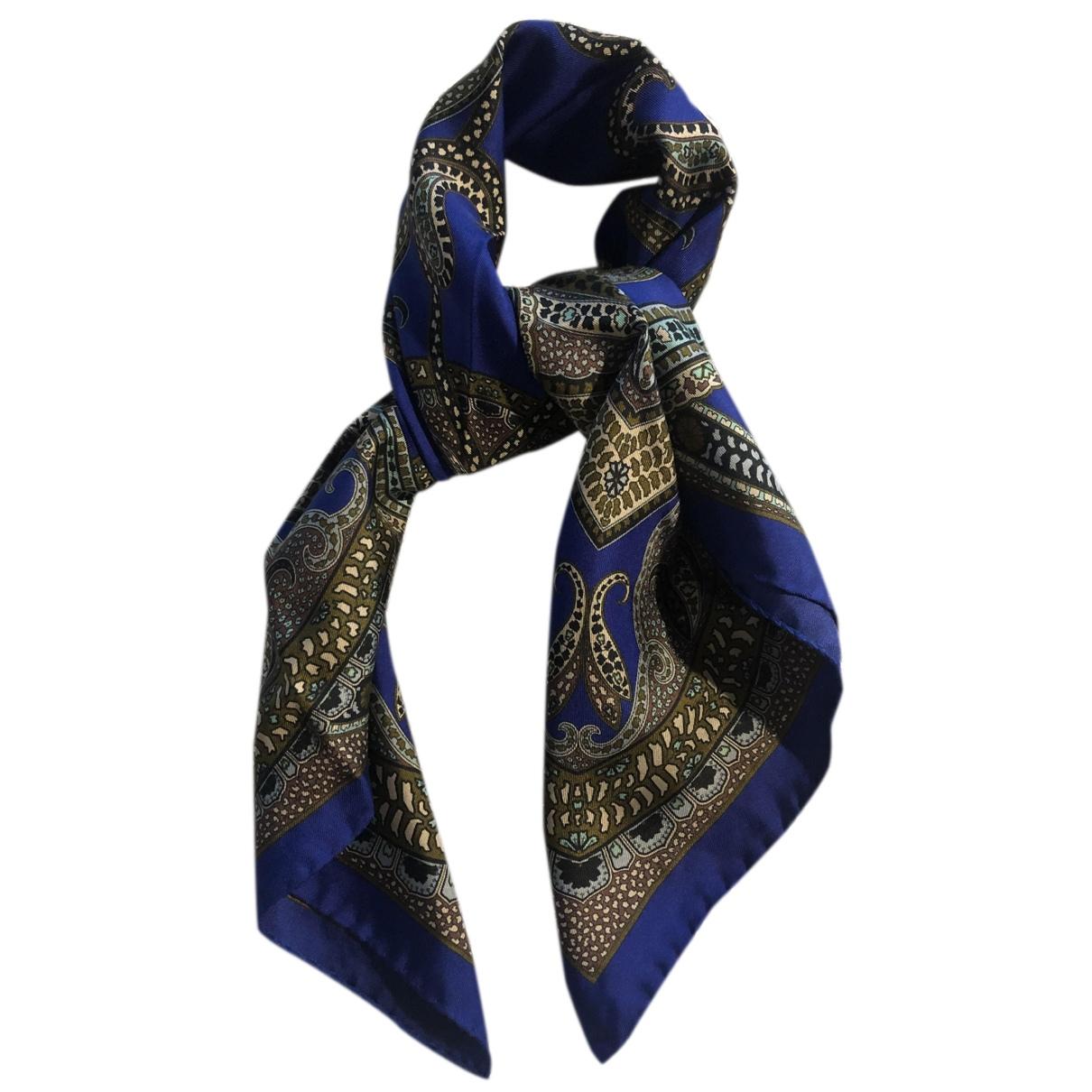 Uterque - Carre   pour femme en soie - bleu