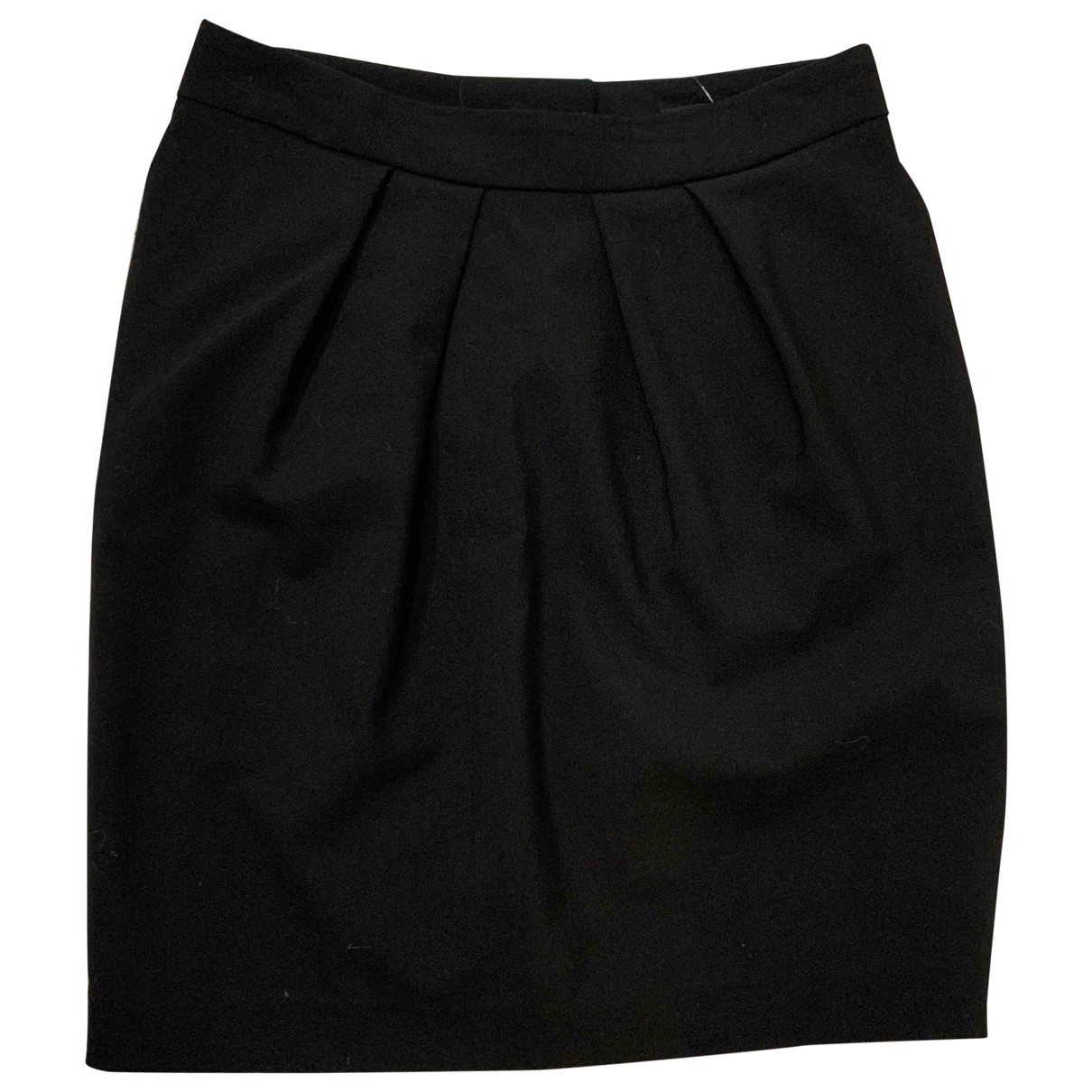 Maje \N Black Cotton skirt for Women 40 FR