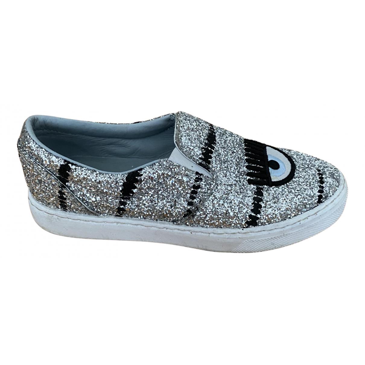 Chiara Ferragni \N Sneakers in  Silber Polyester