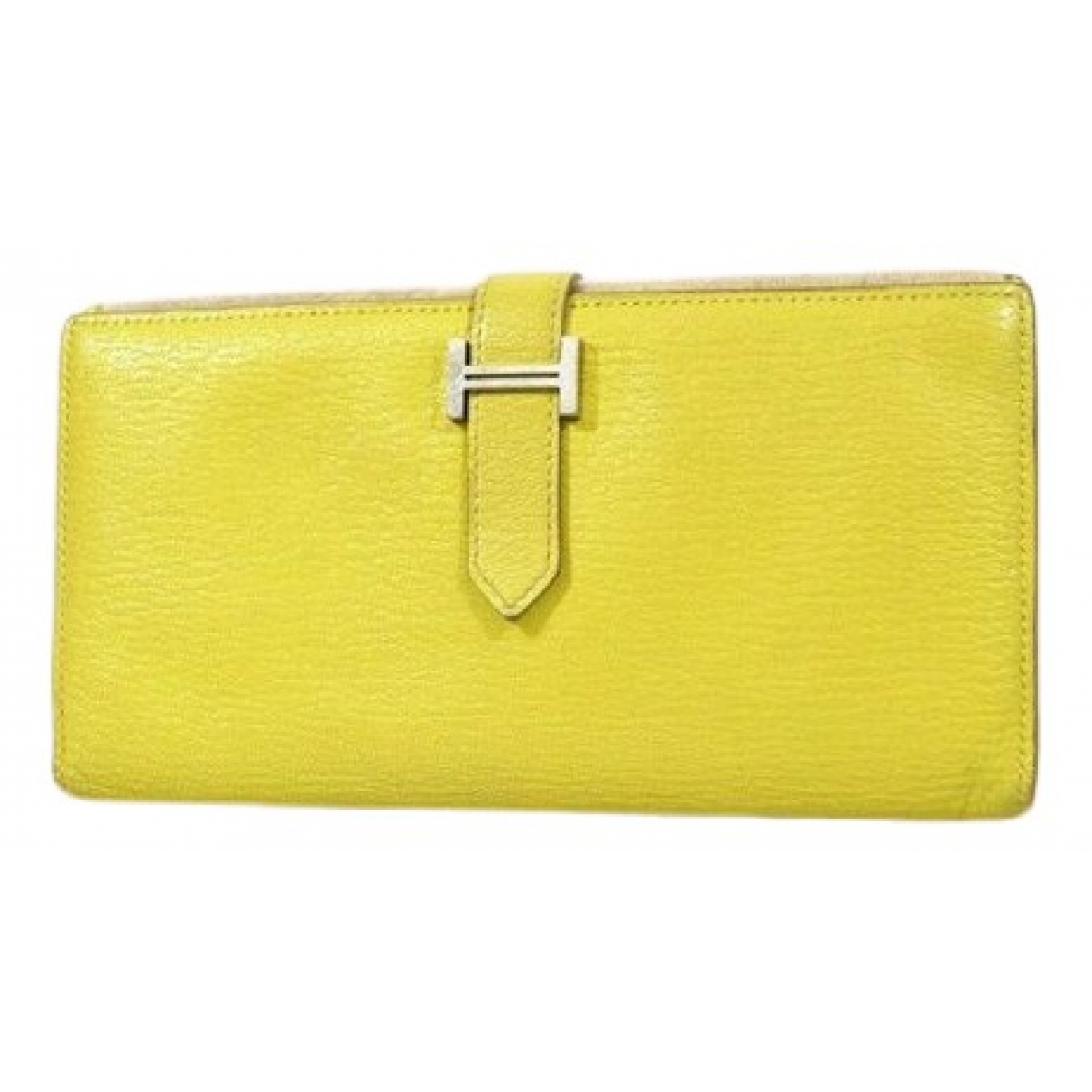 Hermès Béarn Yellow Leather wallet for Women \N