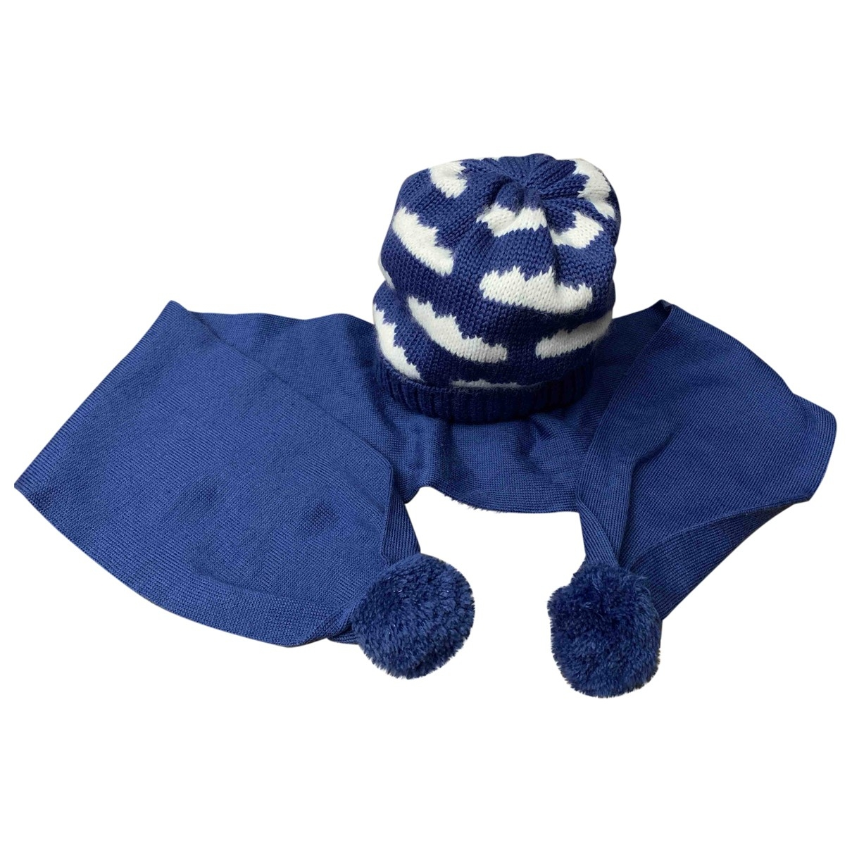 Catya \N Blue Wool hat & Gloves for Kids \N