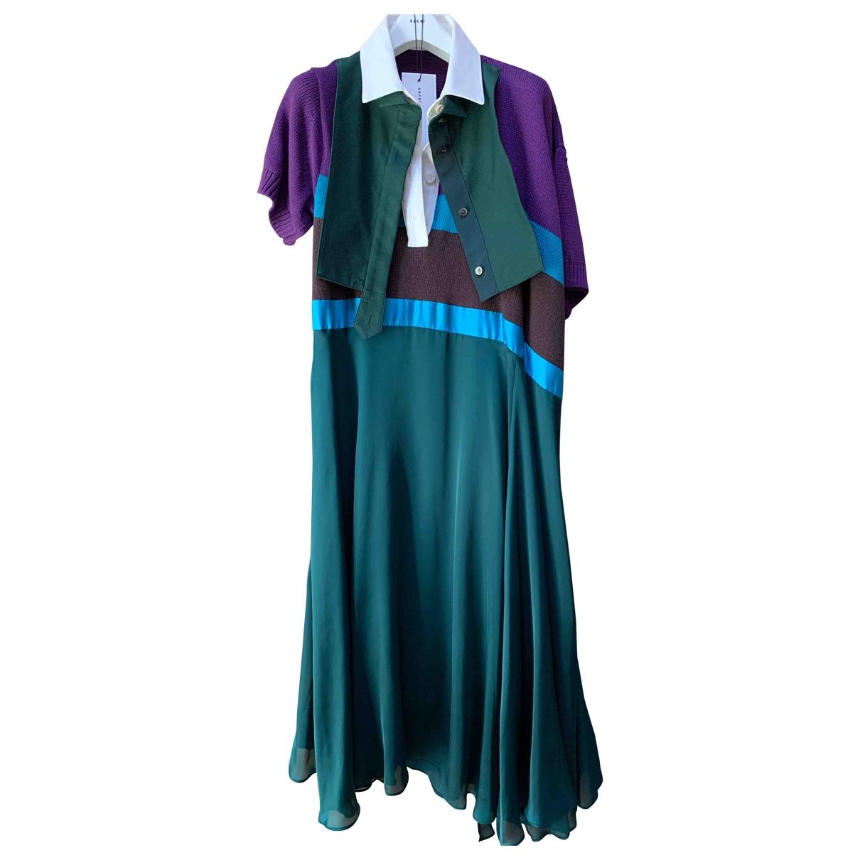 Sacai \N Green Cotton dress for Women 2 0-5