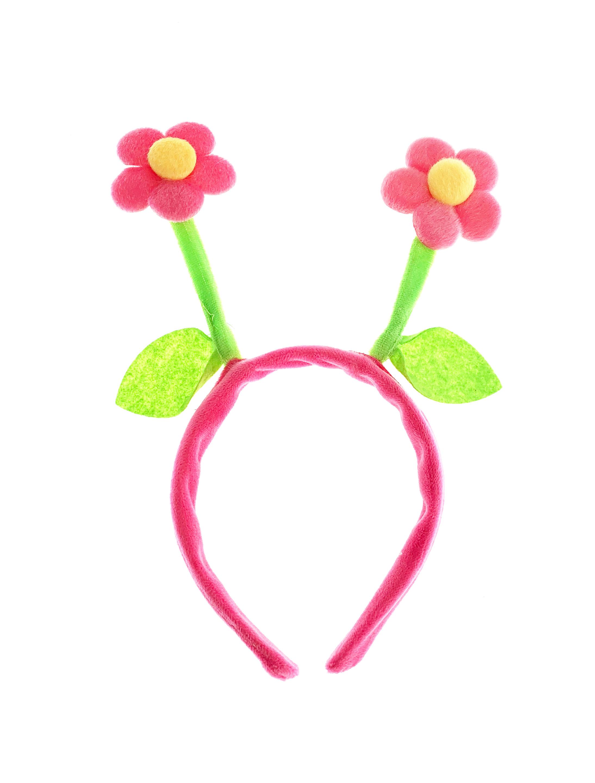 Kostuemzubehor Haarreif mit 2 pinken Blumen