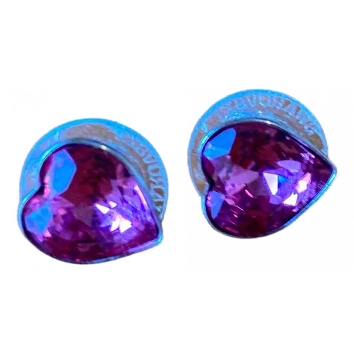 Swarovski - Boucles doreilles Slake pour femme en cristal - rose