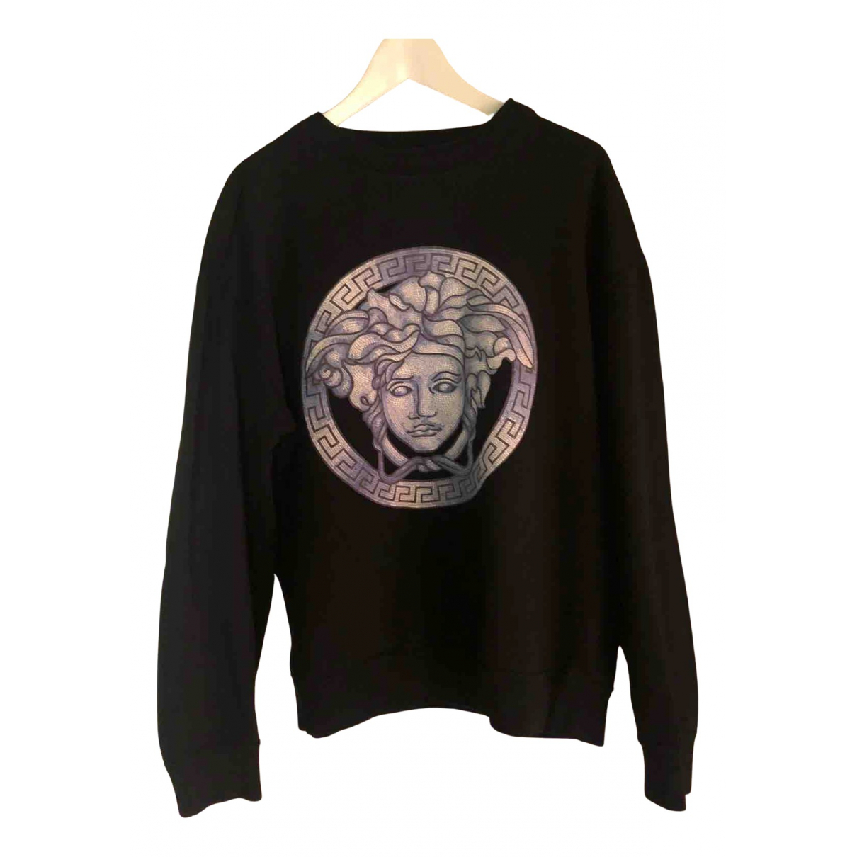 Versace \N Top in  Schwarz Baumwolle