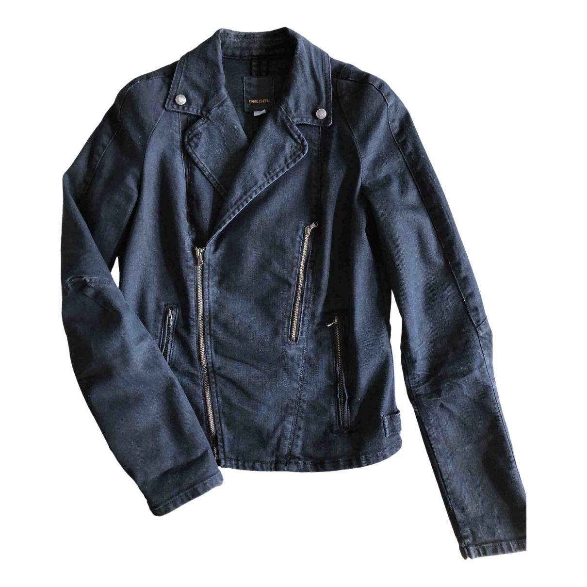 Diesel - Veste   pour femme en coton - noir