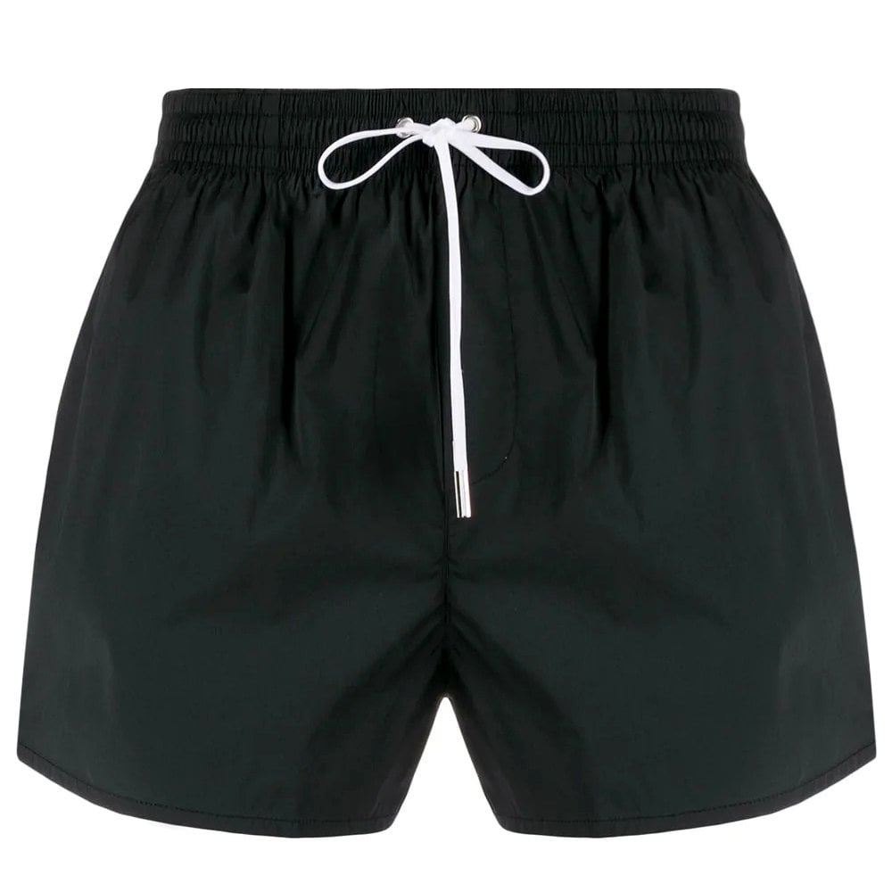 Dsquared2 Logo Swim Shorts Colour: BLACK, Size: EXTRA LARGE