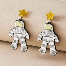 1 Paar Astronaut Design Tropfen Ohrringe