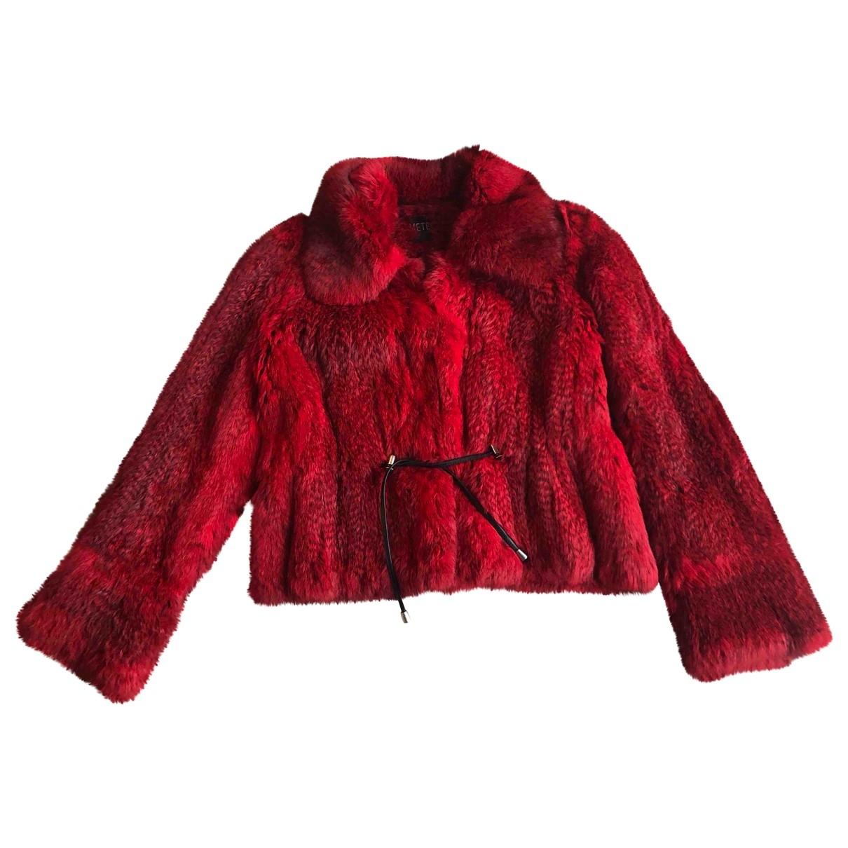 Meteo - Veste   pour femme en lapin - rouge