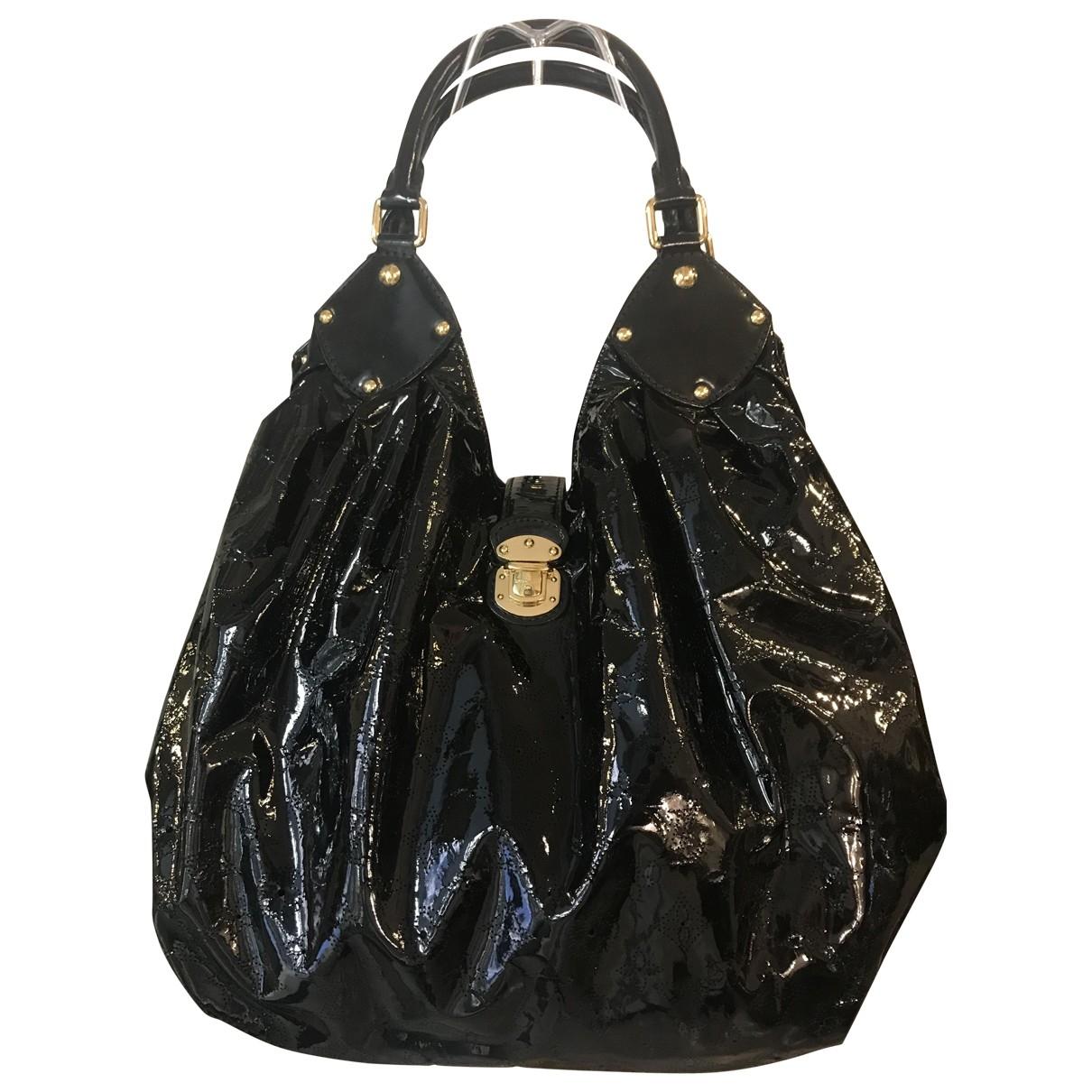 Louis Vuitton Mahina Handtasche in  Schwarz Lackleder