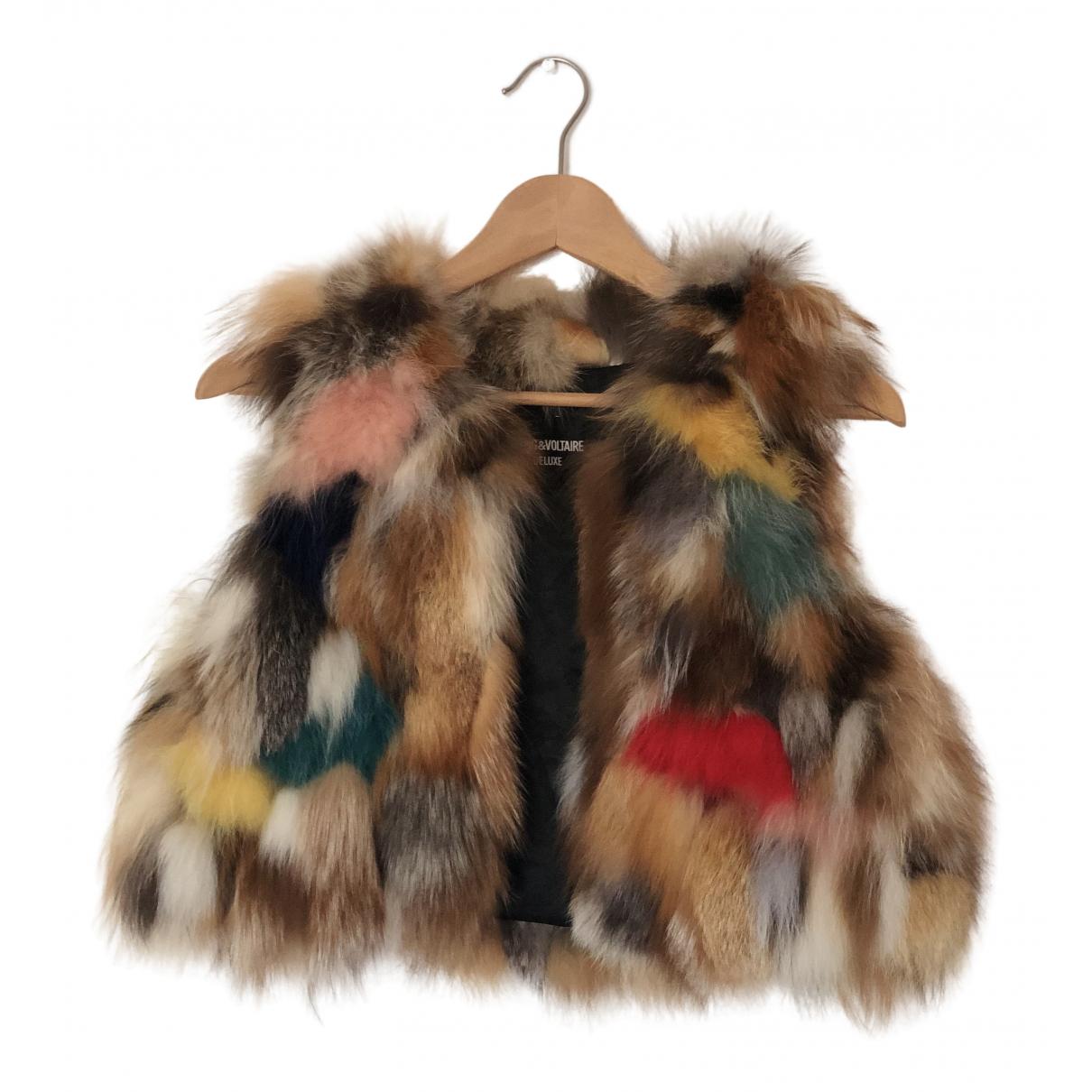 Zadig & Voltaire \N Beige Fox coat for Women 36 FR