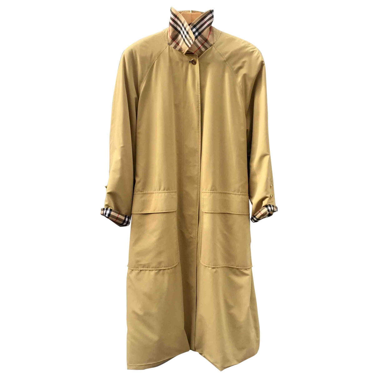Burberry \N Yellow Trench coat for Women 42 FR