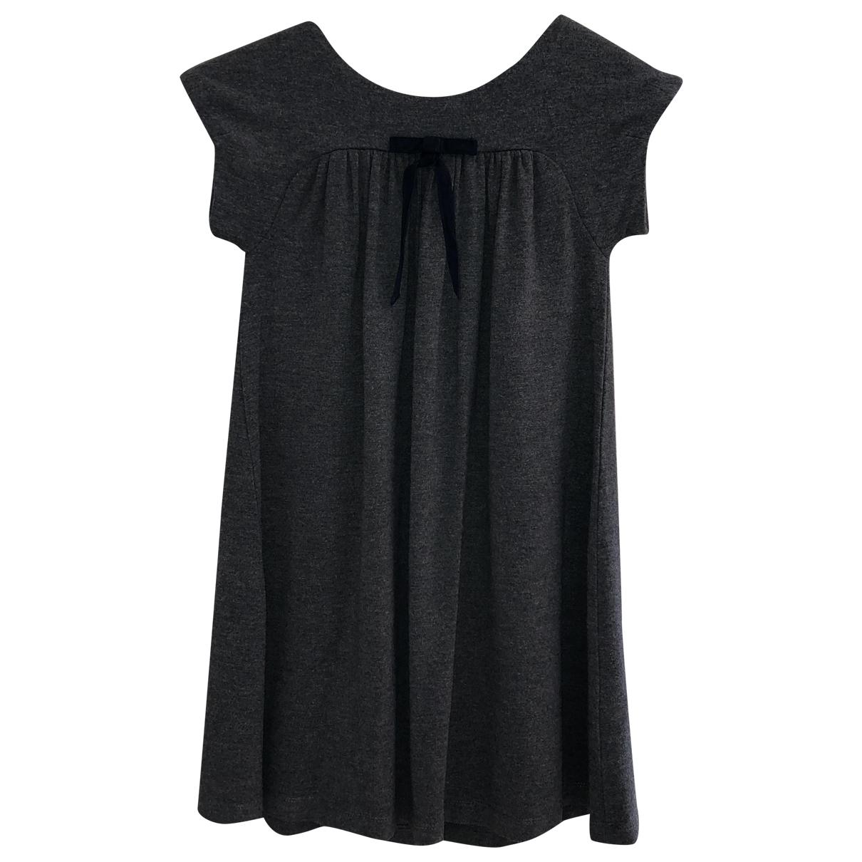 Jacadi - Robe    pour enfant en coton - elasthane - gris