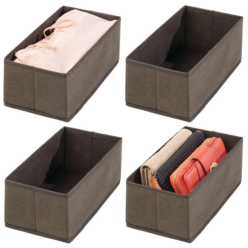 Fabric Closet + Dresser Drawer Storage Organizer in Espresso Brown, by mDesign