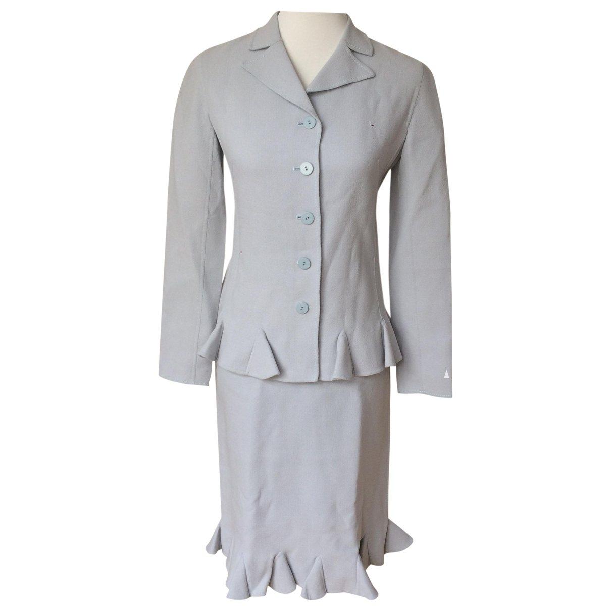 Valentino Garavani \N Blue Wool dress for Women 6 US