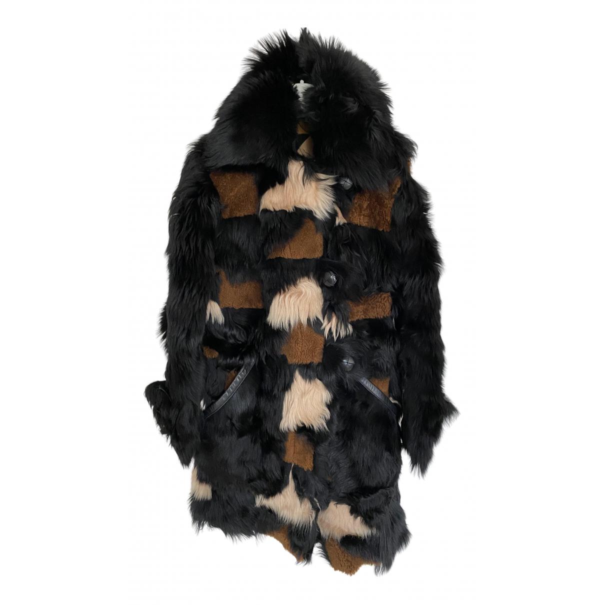 Coach - Manteau   pour femme en mouton - marron