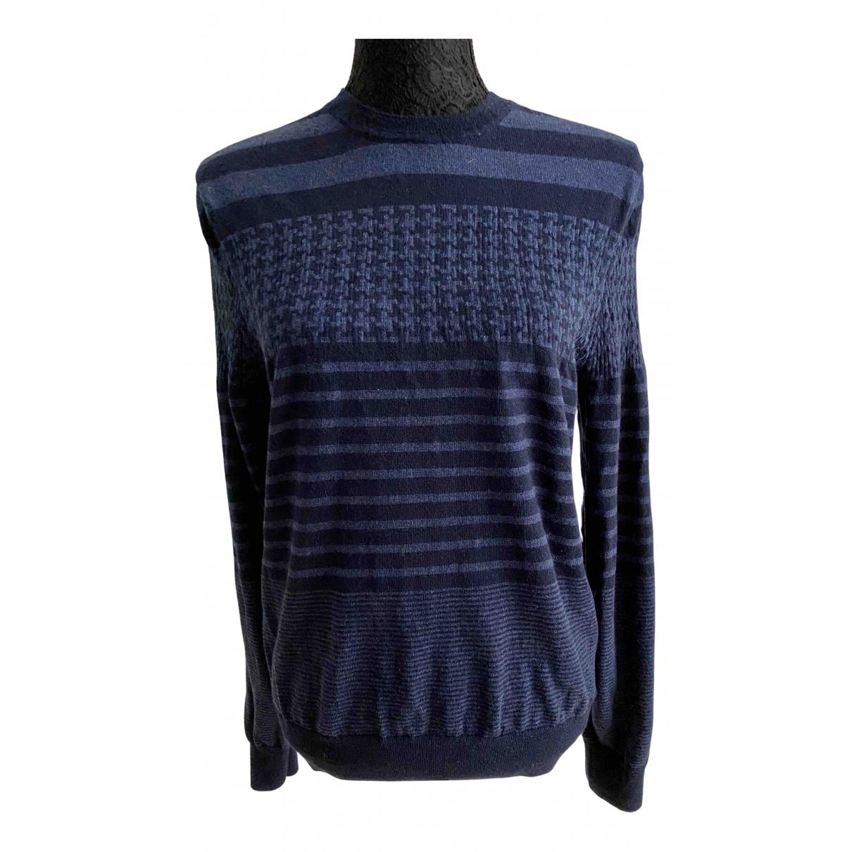 Brooks Brothers \N Pullover.Westen.Sweatshirts  in  Blau Wolle