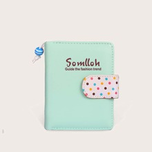 Polka Dot & Letter Graphic Purse