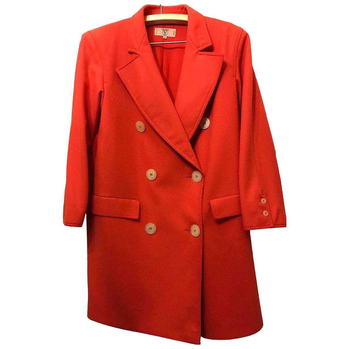 Valentino Garavani \N Red Wool coat for Women 42 IT