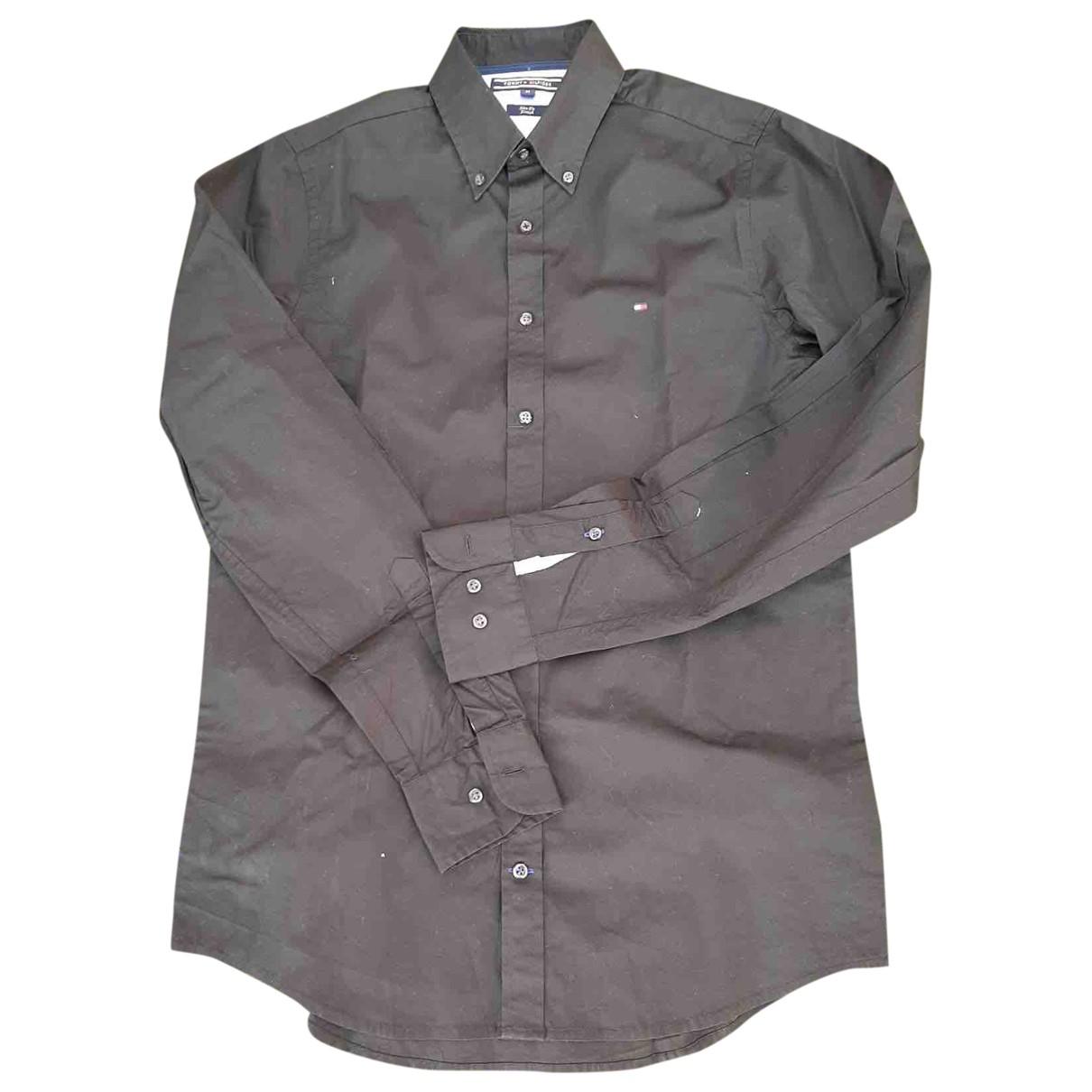 Tommy Hilfiger N Black Cotton Shirts for Men M International